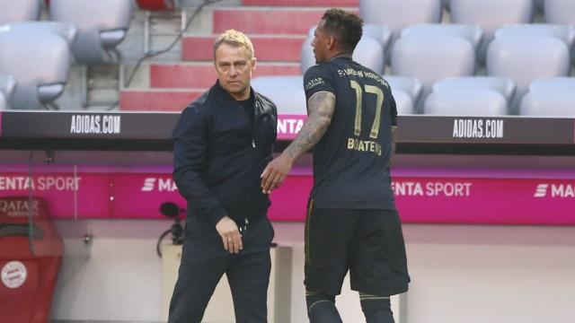 Hansi Flick als Bundestrainer: Eine besondere Verbindung: Jérôme Boateng (r.) und Trainer Hansi Flick.