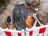 Auf einer Baustelle war am Freitag der Brand ausgebrochen, 20 000 Haushalte in München waren zeitweise ohne Strom.