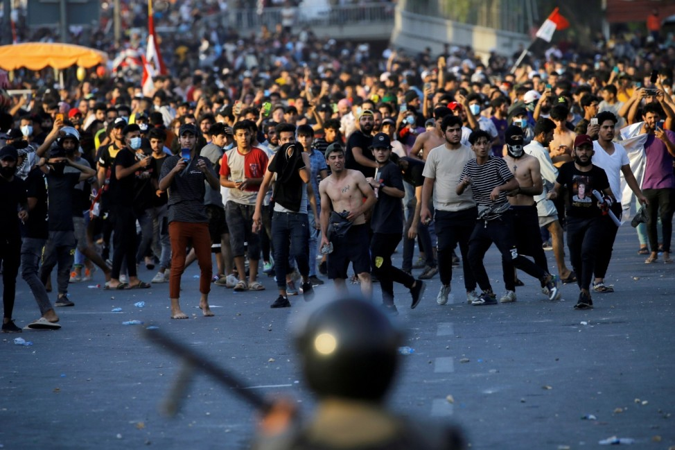 Anti-government protest in Baghdad