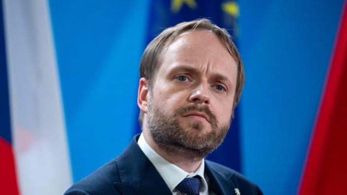 """Tschechien: """"Die EU ist kein Nationalstaat. Natürlich gibt es Meinungsunterschiede. Das ist keine Tragödie"""", findet Tschechiens Außenminister Jakub Kulhánek, hier bei seinem Besuch in Berlin."""