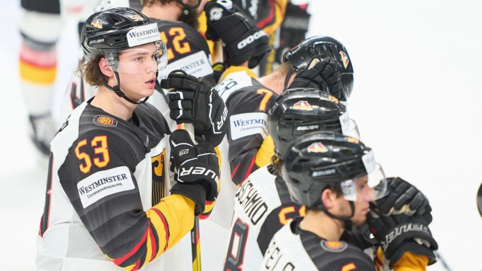 Moritz Seider 53 of Germany after the match GERMANY - KAZAKHSTAN 2-3 IIHF Ice hockey, Eishockey WORLD CHAMPIONSHIPS Grou
