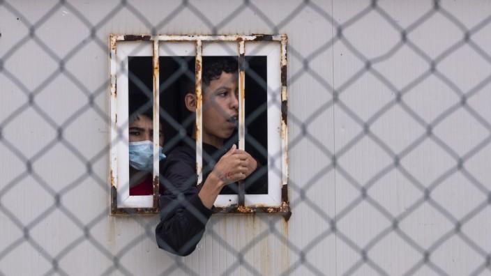 Flüchtlinge: Kinder in Ceuta in einer Unterkunft für unbegleitete Minderjährige