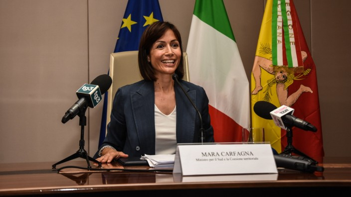 Minister Mara Carfagna Visits Palermo The Minister of the South and of Territorial Cohesion in the Draghi Government, du