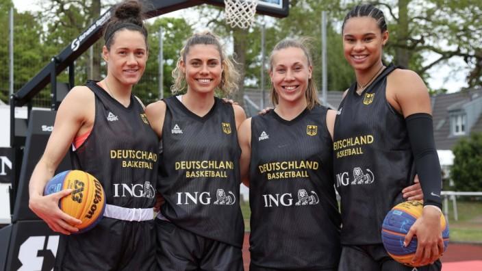 3x3 Damen Basketball Nationalmannschaft Medientraining, 21.05.2021 Stefanie Grigoleit, Theresa Simon, Svenja Brunckhorst