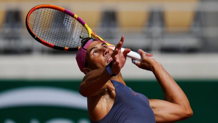 Mandatory Credit: Photo by Javier Garcia/BPI/Shutterstock (11977033v) Rafael Nadal practices French Open Tennis, Saturda