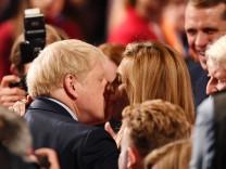 Boris Johnson und Carrie Symonds im Oktober 2019