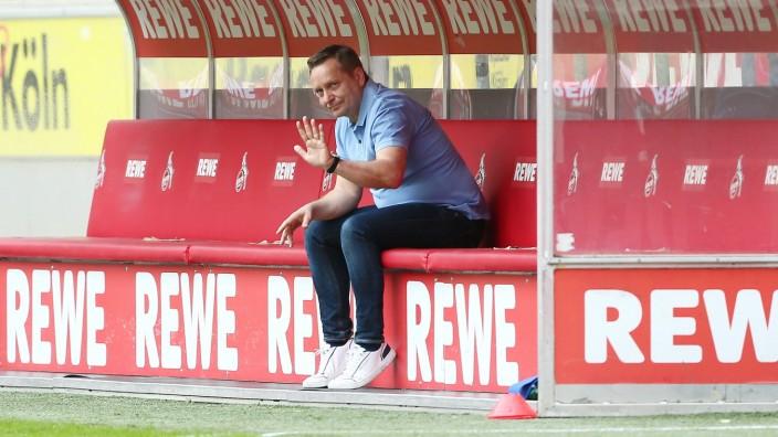 Köln vs. Freiburg 1. FC Köln vs. SC Freiburg, 32. Spieltag, 09.05.2021, 13.30 Uhr, Horst Heldt (1. FC Köln), Bild: *** C