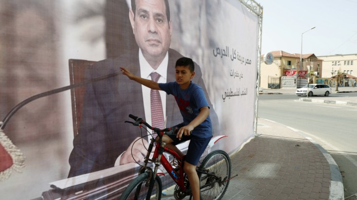 Nahostkonflikt: Gute Stütze: Ägyptens Präsident Abdel Fattah al-Sisi will den Friedensprozess im Nahen Osten neu beleben - auf der Grundlage einer Zweistaatenlösung.