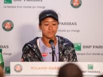 Sport Bilder des Tages Naomi Osaka of Japan speaks during a press conference PK Pressekonferenz af