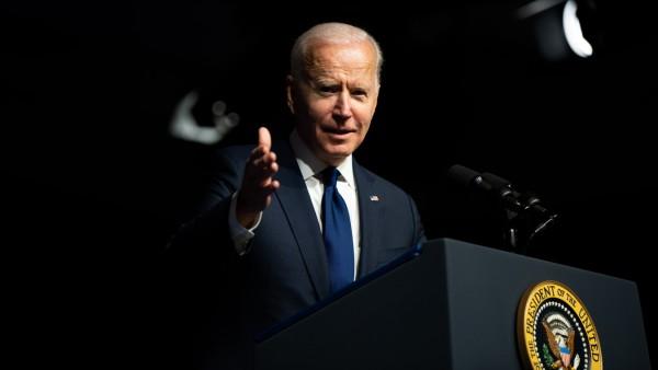 US-Präsident Joe Biden bei einer Rede in Tulsa 2021