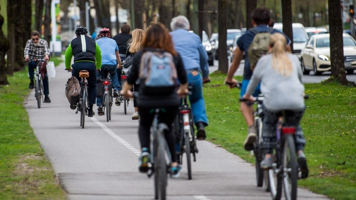 Radfahrer in München