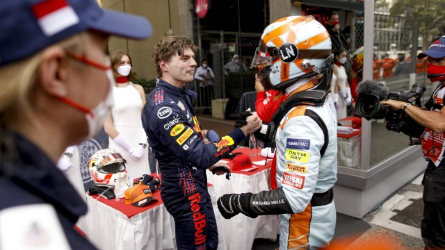 33 Max Verstappen (NED, Red Bull Racing), 4 Lando Norris (GBR, McLaren F1 Team), F1 Grand Prix of Monaco at Circuit de