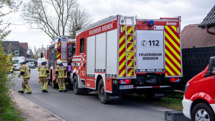 Vier Tote bei Wohnhausbrand am Weserdeich in Bremen