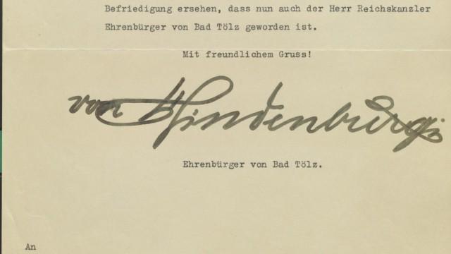 Historische Briefe im Tölzer Stadtarchiv