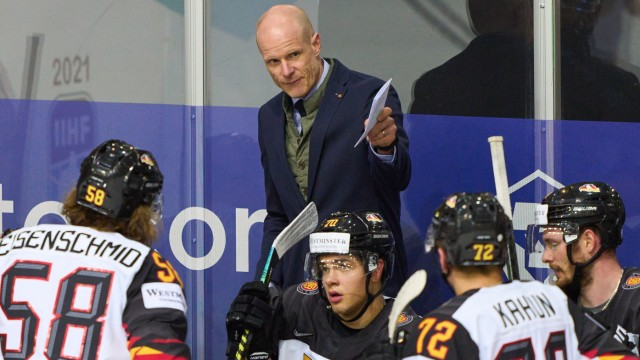 DEB National coach, headcoach, team manager, Bundestrainer, Toni Söderholm, Soederholm of Germany SWITZERLAND - GERMANY; Eishockey