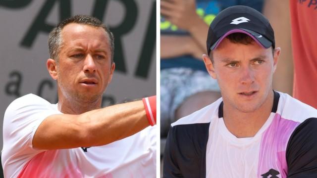 French Open: Zwei deutsche Überraschungen in Paris: Philipp Kohlschreiber (links) und Dominik Koepfer stehen bei den French Open beide in Runde Drei. Dort treffen sie jeweils auf Spieler aus den Top Ten der Setzliste - Diego Schwartzman und Roger Federer,