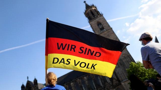 Wahl in Sachsen-Anhalt 2021: Abschlusskundgebung der AfD in Magdeburg