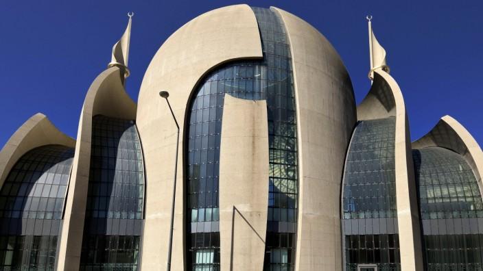 DITIB-Zentralmoschee Köln, Architekten Gottfried und Paul Böhm, Köln, Rheinland, Nordrhein-Westfalen, Deutschland, Europ