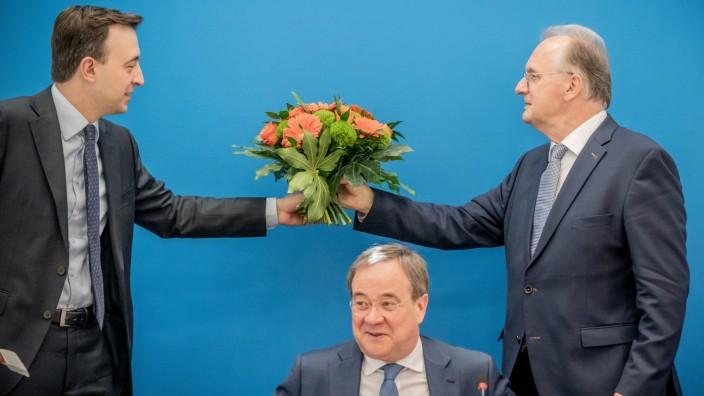 Saxony-Anhalt State Premier Haseloff at a CDU board meeting in Berlin