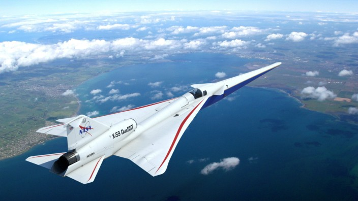 October 9, 2019 - U.S. - This artist s concept s X-59 QueSST (short for Quiet SuperSonic Technology) is an experimental