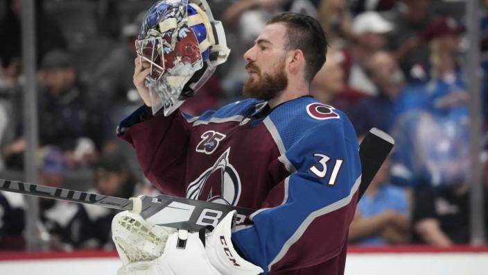 NHL-Playoffs 2021: Philipp Grubauer beim Spiel Colorado Avalanche gegen Vegas Golden Knights