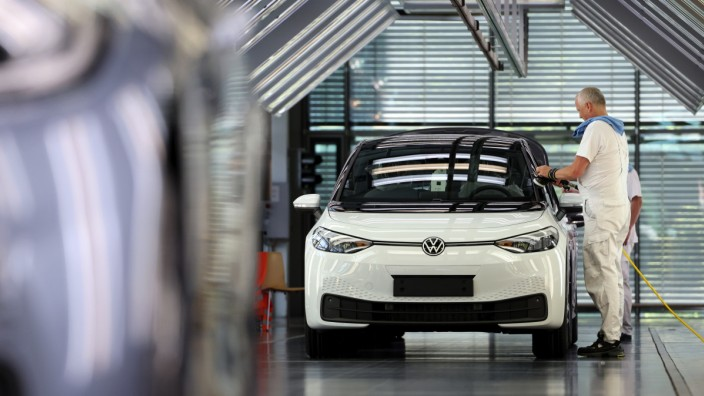 Assembly of Volkswagen's ID.3 Electric Vehicle