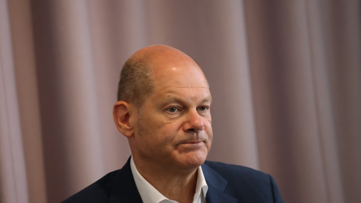 SPD Chancellor Candidate Olaf Scholz Speaks To Foreign Journalists' Association
