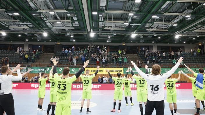 08.06.2021, Handball, 2. Bundesliga 2020-2021, 28. Spieltag, DJK Rimpar Woelfe - Wilhelmshavener HV, GER, Wuerzburg, s.O