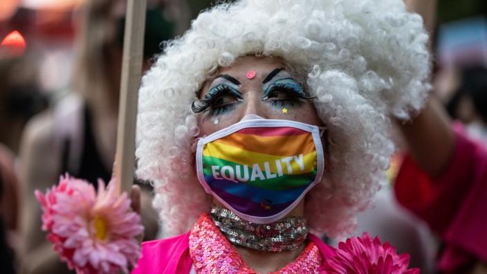 People Stage Rally Calling For LGBTQ Anti-Discrimination Legislation