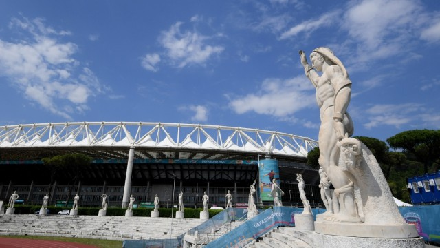 Euro 2020 - Rome's Stadio Olimpico prepares for opening match