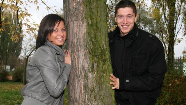Robert Lewandowski Poland Lech Poznan with his girlfriend Anna Stachurska PUBLICATIONxNOTxI