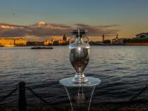 European Football Cup presented in St. Petersburg The European Football Cup - the main trophy of the 2020 European Footb