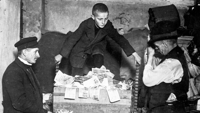 Geldvernichtung während der Inflation, 1923