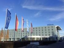 Das Hilton Hotel am Flughafen in München 09.12.2016
