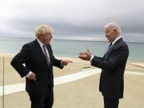 G-7-Gipfel: Boris Johnson trifft Joe Biden.