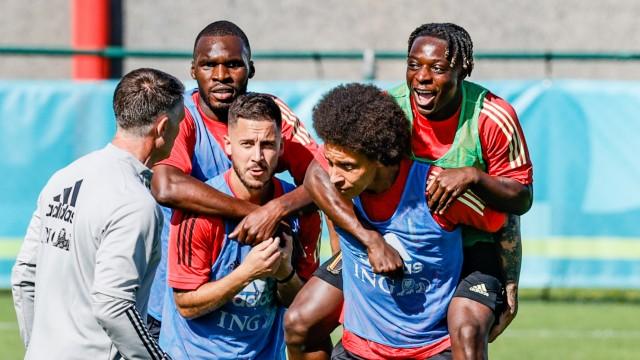 Fußball EM - Training Belgien
