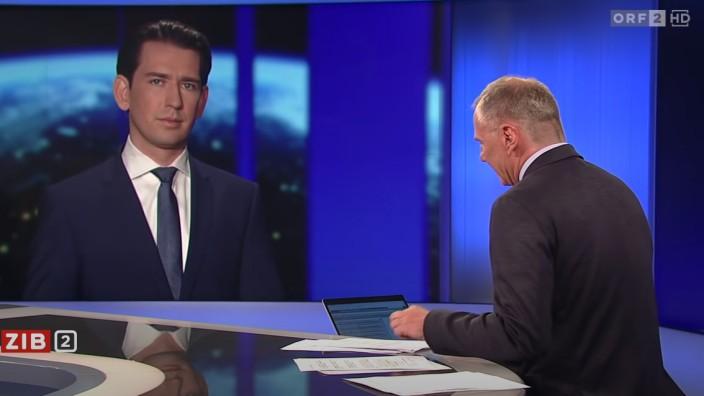 Screenshot Sebastian Kurz im ORF-Interview vom 12.05.2021
