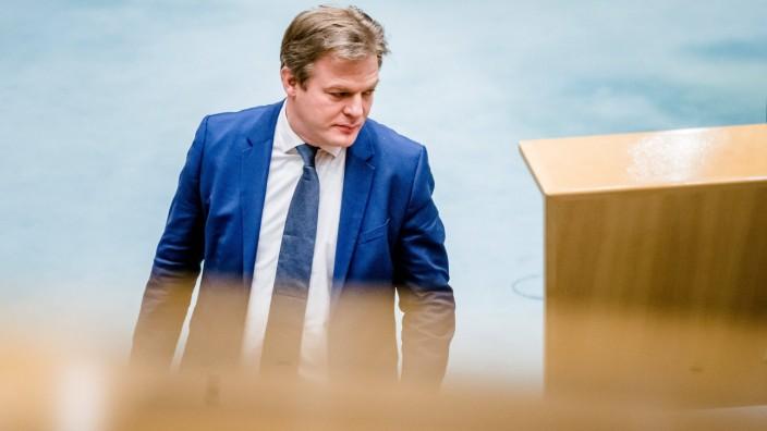 DEN HAAG - Pieter Omtzigt (CDA) tijdens een debat over het aftreden van het kabinet naar aanleiding van de toeslagenaffa