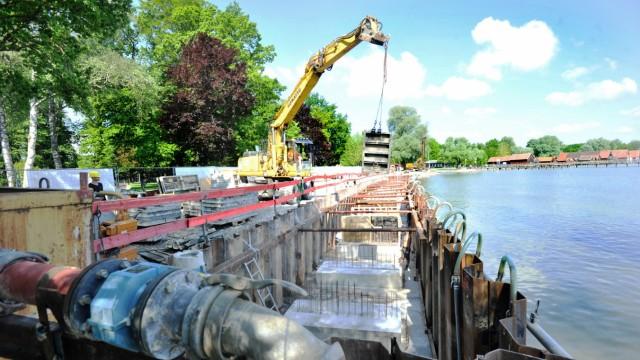 Dießen: Baustelle - Seeanlagen