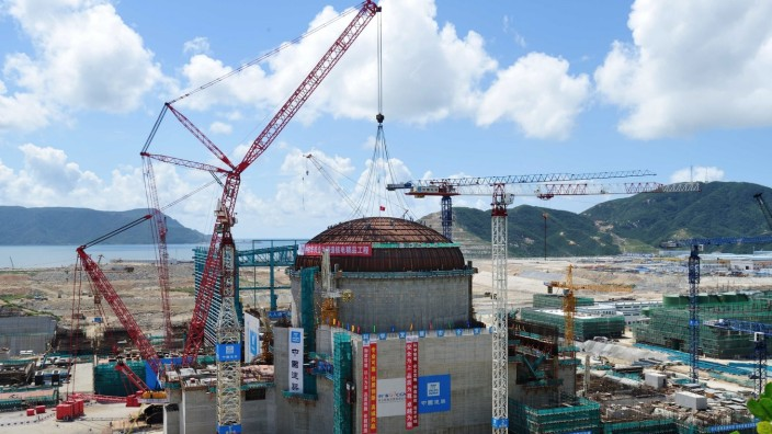Dome tops out at south Chinas Taishan Unit 2 Nuclear Power Plant