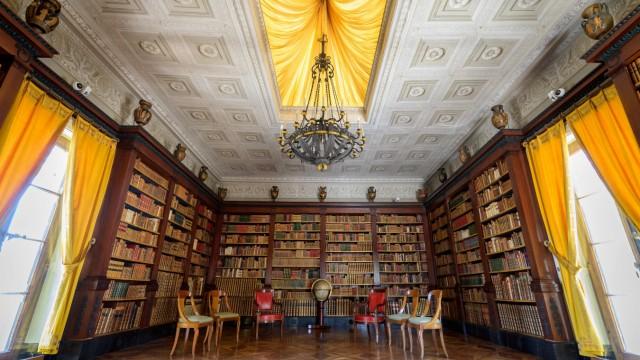 Genf: Die Bibliothek der Villa, in der die beiden Präsidenten aufeinandertreffen sollen.