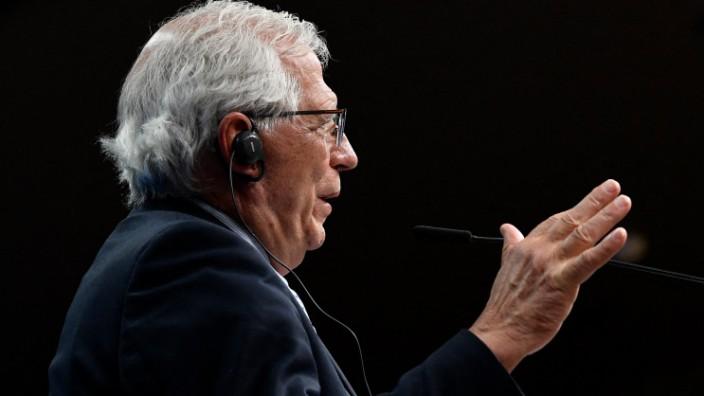 """EU und Russland: Hat """"politische Optionen"""" für den Umgang mit Russland ausgearbeitet: Europas Außenbeauftragter Josep Borrell."""
