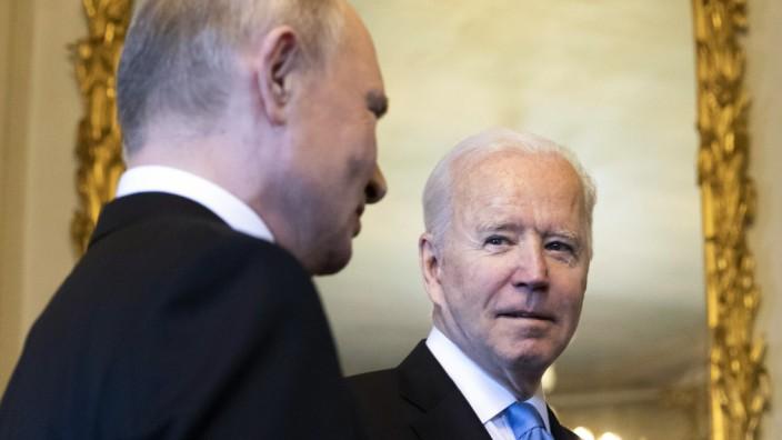 Joe Biden und Wladimir Putin 2021 in Genf