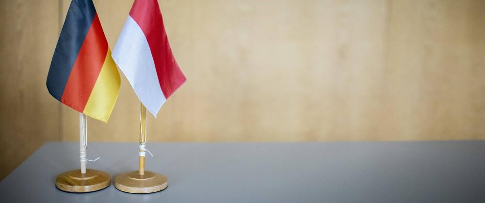 v.l. Flagge Deutschland, Flagge Polen. Germany, Poland. Bonn Deutschland *** v l Flag Germany, Flag Poland Germany, Pola