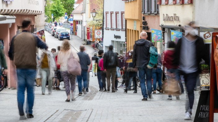 Coronavirus - Fußgängerzone