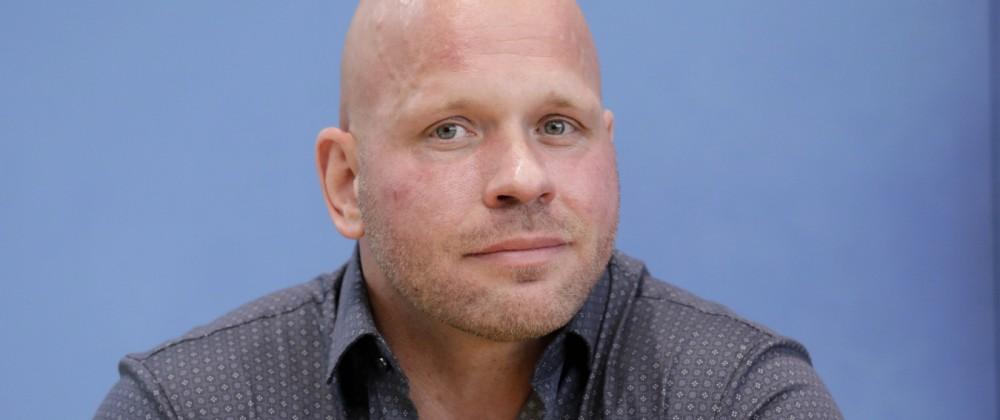 Ricardo Lange, Intensivpfleger, PK zu - Aktuelle Corona-Lage, DEU, Berlin, 29.04.2021 *** Ricardo Lange, Intensive Care