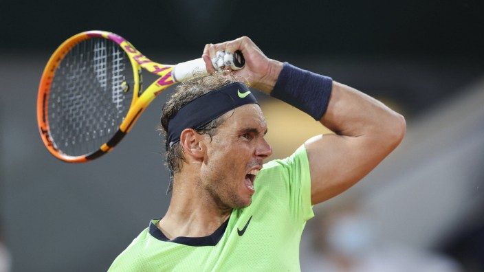 Rafael Nadal (ESP) Tennis - French Open 2021 - Grand Slam - Roland Garros - Paris - - France - 11 June 2021. *** Rafael