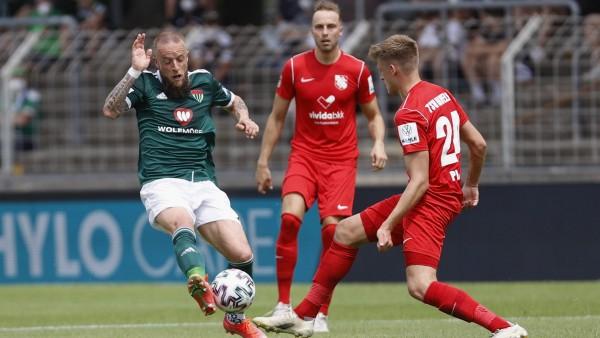 12.06.2021, Fussball, Qualifikationsrunde, 2020-2021, zum Aufstieg in die 3 Liga, Hinspiel, 1.FC Schweinfurt 05 - TSV Ha