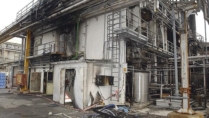 Havarie in Chemiefabrik Peroxid am 29.10.2002