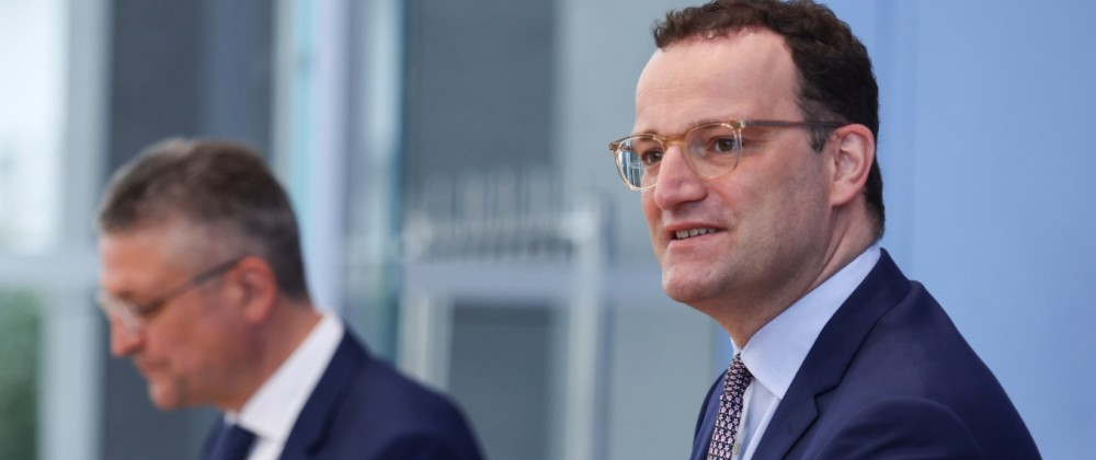 German Health Minister Spahn holds a news conference with President of RKI Wieler, in Berlin